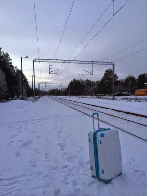 On the way to Rovaniemi, Finland